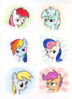 Ponies in color by Agamnentzar