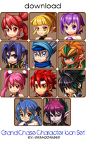 Grand Chase Character Icon Set by GrandChaser