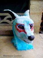 blue canine mask by Hidden-Treasury