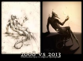Meme: Before and After - Arahas 2008 vs 2013 by Alkven