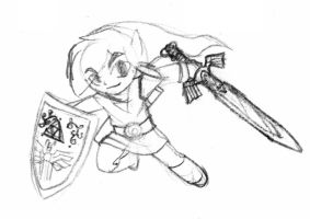 Link, the Hero of Winds (sketch) by Blayaden