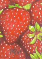 ACEO Strawberries by robertsloan2