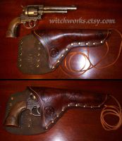 Steampunk Holster with Gun by Steampunked-Out