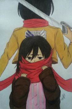 Mikasa Ackerman Past and Present by iamuday