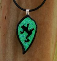 Hanging on a Leaf Fused Glass by FusedElegance