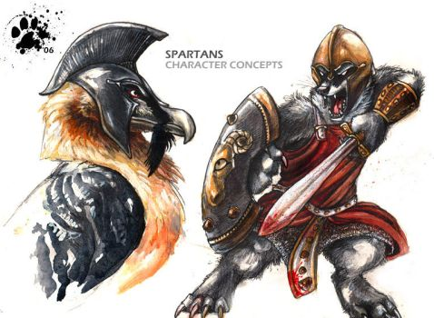 Spartan Character Concepts by screwbald