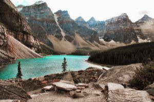 Lake of Ten Peaks by skip2000