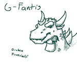 G-Fantis sketch by Mecha-Anguirus