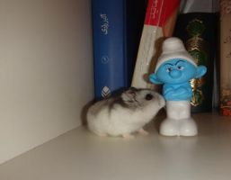 Hamster and smurf by Melika1991