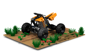 Lego Technic 9392 Quad render by ABslego