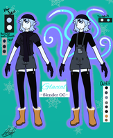 [OC] Glacial ref by ChaoticPuppetMaster