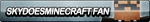 SkyDoesMinecraft Fan Button by ButtonsMaker