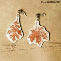 Autumn leaves earrings by skuggsida