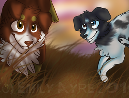 Ruby And Merle by Floppy-Doggie