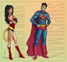 Wonder Woman And Superman Colours by Mr-Frisky