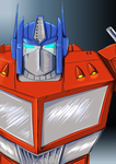 Optimus Prime colored by xoes