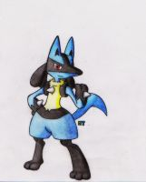 #448 - (Lucario) by GTS257-CT