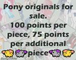 Pony original pieces for sale by Fortitudine-Shelter