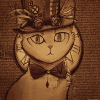 Steampunk Cat by Meorow