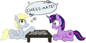 Derpy vs Twilight by paper-pony