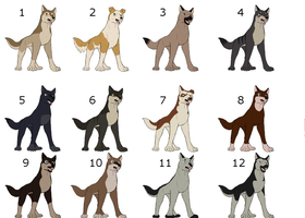 Canine adopts 1 (7/12) by Bluethealpha