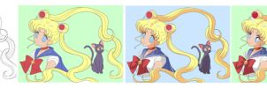 TUTO step by step SAILOR MOON by ECVcm