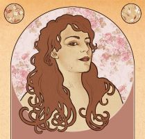 Art Nouveau Self-Portrait by Selladorra