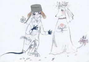 Sniff's parents from Moomins by SiniSiren
