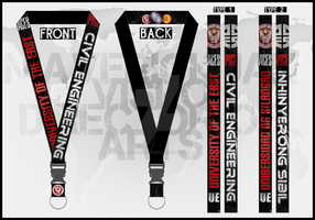 UE ACES PICE 2014-2015 Official Lanyard by MaverickGraphics