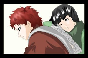 Gaara and Lee by dirty-darella