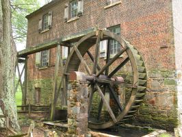 Rustic Water Wheel by HauntingVisionsStock