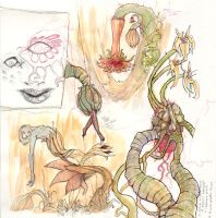 New sketchbk-carnivour plants by zyphryus