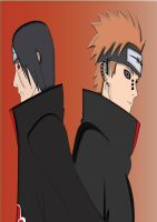 Pein and Itachi Uchiha by Tomato-Field