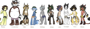 All my anthro males Updated by griffsnuff