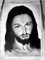 Jesus [Jeshua] (Gesu Misericordioso) Drawing by DesignerMF