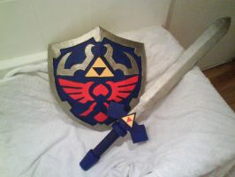 Hylian Shield and Master Sword by WillziakDS