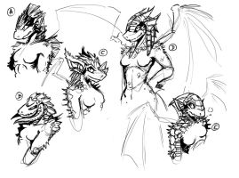 Dragon Chicks WIP - Your favorite ? by EMP-83
