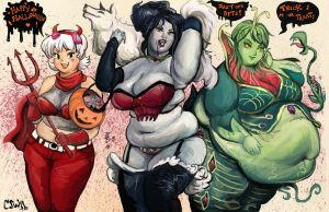 Halloween Monster BBWs by TheAmericanDream