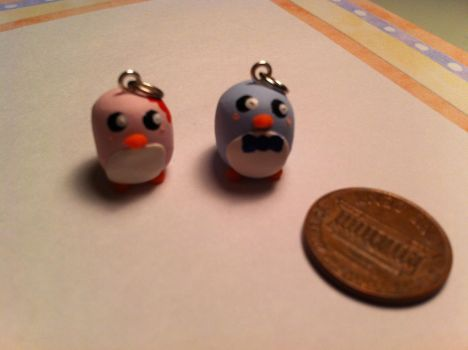 Penguin Couple Charms ~$2 by Jenna7777777