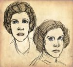 Leia sketches by Jinzali