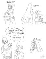 Kill la Kill Ryuko la Satsuki fanfiction sketches by h0saki