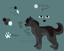 zeze ref sheet by Rubylockheartwolf