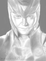 Grayscale Loki by speakerhead89