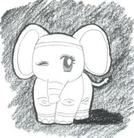 elephant by jessishtranish