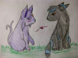 Espeon and Umbreon by EleeArt