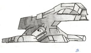 Space Craft Sketch2 by Lotay