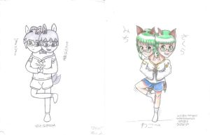 Sakura and Michi: Before and After Style Change by xcesskinavira
