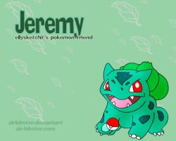 Jeremy the Bulbasaur by airlobster