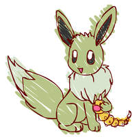 Eevee ruvs his toy by sunnyfish