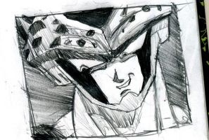 Perfect Cell sketch by Shauni